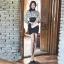 เดรสเกาหลี พร้อมส่ง เดรสเชิ้ต แขนยาว ผ้าซีทรู thumbnail 5