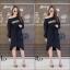 ชุดเดรสเกาหลี พร้อมส่ง Long Dress เดรสแขนยาวเปิดไหล่ thumbnail 4