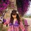 เดรสเกาหลี พร้อมส่ง เดรสลายดอก ผ้าสวย สีหวาน thumbnail 7