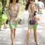 พร้อมส่ง Long Dress สีโอโรส thumbnail 4