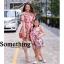 ชุดเดรสเกาหลี พร้อมส่ง เดรสแขนตุ๊กตา ลายดอกชบา thumbnail 11