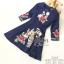 เดรสเกาหลี พร้อมส่ง ชุดเดรส ผ้าผสมsilk ปักลายดอกไม้ thumbnail 6