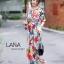 เดรสเกาหลี พร้อมส่ง เดรสกระโปรงยาว เอวสม๊อค เรียบๆ thumbnail 6