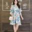 เดรสเกาหลี พร้อมส่ง Dress เดรสสั้น ลายดอก thumbnail 11