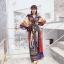 ชุดเดรสเกาหลี พร้อมส่ง เดรสตัวยาว คอทวิชแขนค้างคาว thumbnail 4