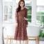 เดรสลูกไม้ พร้อมส่ง dress ลูกไม้เกาหลีเนื้อดี ทรงสวย thumbnail 6