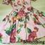 ชุดเดรสเกาหลี พร้อมส่ง เดรสแขนตุ๊กตา ลายดอกชบา thumbnail 7