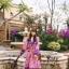 เดรสเกาหลี พร้อมส่ง เดรสลายดอก ผ้าสวย สีหวาน thumbnail 4