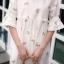 เสื้อเกาหลี พร้อมส่ง เสื้อกึ่ง มินิเดรส ลายดอกวินเทจ thumbnail 10