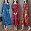 ชุดเดรสเกาหลี พร้อมส่ง Dress คอกลม ลายดอกไม้ thumbnail 1