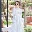 เดรสเกาหลี พร้อมส่ง Maxi dress คอจีน thumbnail 9