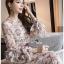 เดรสเกาหลี พร้อมส่ง เดรส ผ้าชีฟองพิมพ์ลายดอกไม้ thumbnail 8