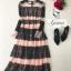 ชุดเดรสเกาหลี Maxi dress พิมพ์ลายดอก ทรงอกป้ายไขว์ thumbnail 12