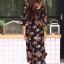 ชุดเดรสเกาหลี พร้อมส่ง dress ปริ้นลายดอก thumbnail 19