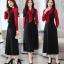 ชุดเดรสเกาหลี พร้อมส่ง เดรสตัวยาว ผ้าทิ้งตัว thumbnail 1