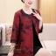 เสื้อผ้าเกาหลี พร้อมส่ง เสื้อคลุม ตัวยาว คอกลม แขน 5 ส่วน thumbnail 3