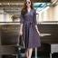 ชุดเดรสเกาหลี พร้อมส่ง Dress คอวี แขน 5ส่วน thumbnail 3