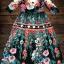 ชุดเดรสเกาหลี พร้อมส่ง แม็กซี่เดรส เนื้อผ้าปริ้นท์ลายดอกไม้ thumbnail 6