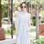 เดรสเกาหลี พร้อมส่ง Maxi dress คอจีน thumbnail 6