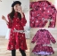 เดรสเกาหลี พร้อมส่ง เดรสผ้าเครปสีแดง ลายดอกไม้ thumbnail 15
