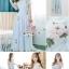 ชุดเดรสเกาหลี พร้อมส่ง เดรสยาว สีฟ้า ปักลายดอกไม้สีฟ้า-สีชมพู thumbnail 3