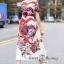 ชุดเดรสเกาหลี พร้อมส่ง เดรสยาว ลายดอกกุหลาบผสมลายหัวใจ thumbnail 4