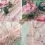 เดรสลูกไม้ พร้อมส่ง เดรสผ้าลูกไม้ เนื้อนิ่ม ลายดอกกุหลาบ thumbnail 10