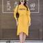 ชุดเดรสเกาหลี พร้อมส่ง Long Dress เดรสแขนยาวเปิดไหล่ thumbnail 12