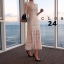 เดรสลูกไม้ พร้อมส่ง Maxi dress ลูกไม้ขาว คอปีน thumbnail 1