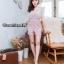 เสื้อผ้าเกาหลี พร้อมส่ง จั้มสูท ขาสั้นเเต่งลูกไม้ thumbnail 3