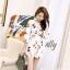 เสื้อผ้าเกาหลี พร้อมส่ง จั๊มสูท ผ้าลายสวย จับทรง thumbnail 6