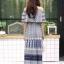 ชุดเดรสเกาหลี พร้อมส่ง Dress ปร้ินลายเชิง แต่งระบายรอบตัว thumbnail 17