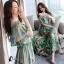 พร้อมส่ง long dress ผ้าชีฟองหลากสีโทนสีเขียวขี้ม้า thumbnail 3