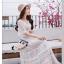 เดรสเกาหลี พร้อมส่ง เดรสลายลูกไม้ซีทรู thumbnail 4