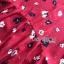 เดรสเกาหลี พร้อมส่ง เดรสผ้าเครปสีแดง ลายดอกไม้ thumbnail 17