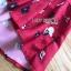 เดรสเกาหลี พร้อมส่ง เดรสผ้าเครปสีแดง ลายดอกไม้ thumbnail 18