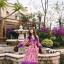 เดรสเกาหลี พร้อมส่ง เดรสลายดอก ผ้าสวย สีหวาน thumbnail 6