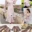ชุดเดรสเกาหลี พร้อมส่ง เดรสผ้าลูกไม้ โทนสีนู๊ดทอลายโปร่ง thumbnail 2