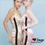 ชุดเดรสเกาหลี พร้อมส่ง Maxi Dress สายเดียว ผ้าสีพื้นมันเงา thumbnail 8