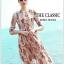 ชุดเดรสเกาหลี พร้อมส่ง เดรสยาว ปักลวดลายดอกไม้ thumbnail 4