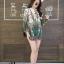 เสื้อเกาหลี พร้อมส่ง เสื้อเชิ้ต คอจีน ลายไทย thumbnail 4