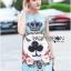 เดรสเกาหลี พร้อมส่ง ชุดเดรส ผ้าโบรเคดลายนูน thumbnail 8