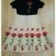 เดรสเกาหลี พร้อมส่ง ชุดเดรสปัก เสื้อผ้ายืดสีดำ thumbnail 6