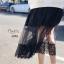 เสื้อผ้าเกาหลี พร้อมส่ง เสื้อยืด กับ กระโปรงมุ้งลายจุดเล็ก thumbnail 4