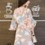 เดรสเกาหลี พร้อมส่ง Dress เดรสสั้น ลายดอก thumbnail 7
