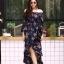 ชุดเดรสเกาหลี พร้อมส่ง dress ปริ้นลายดอก thumbnail 2