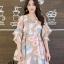 เดรสเกาหลี พร้อมส่ง Dress เดรสสั้น ลายดอก thumbnail 6