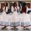 ชุดเดรสเกาหลี พร้อมส่ง Dress ยาวกระโปรงบาน thumbnail 4