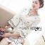 เดรสเกาหลี พร้อมส่ง มินิเดรส ผ้าเครปสีขาวปักลายดอกไม้เล็กๆ thumbnail 12