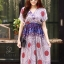 ชุดเดรสเกาหลี พร้อมส่ง Maxi dress ผ้าสปันเนื้อดีปริ้นลายสวย thumbnail 8